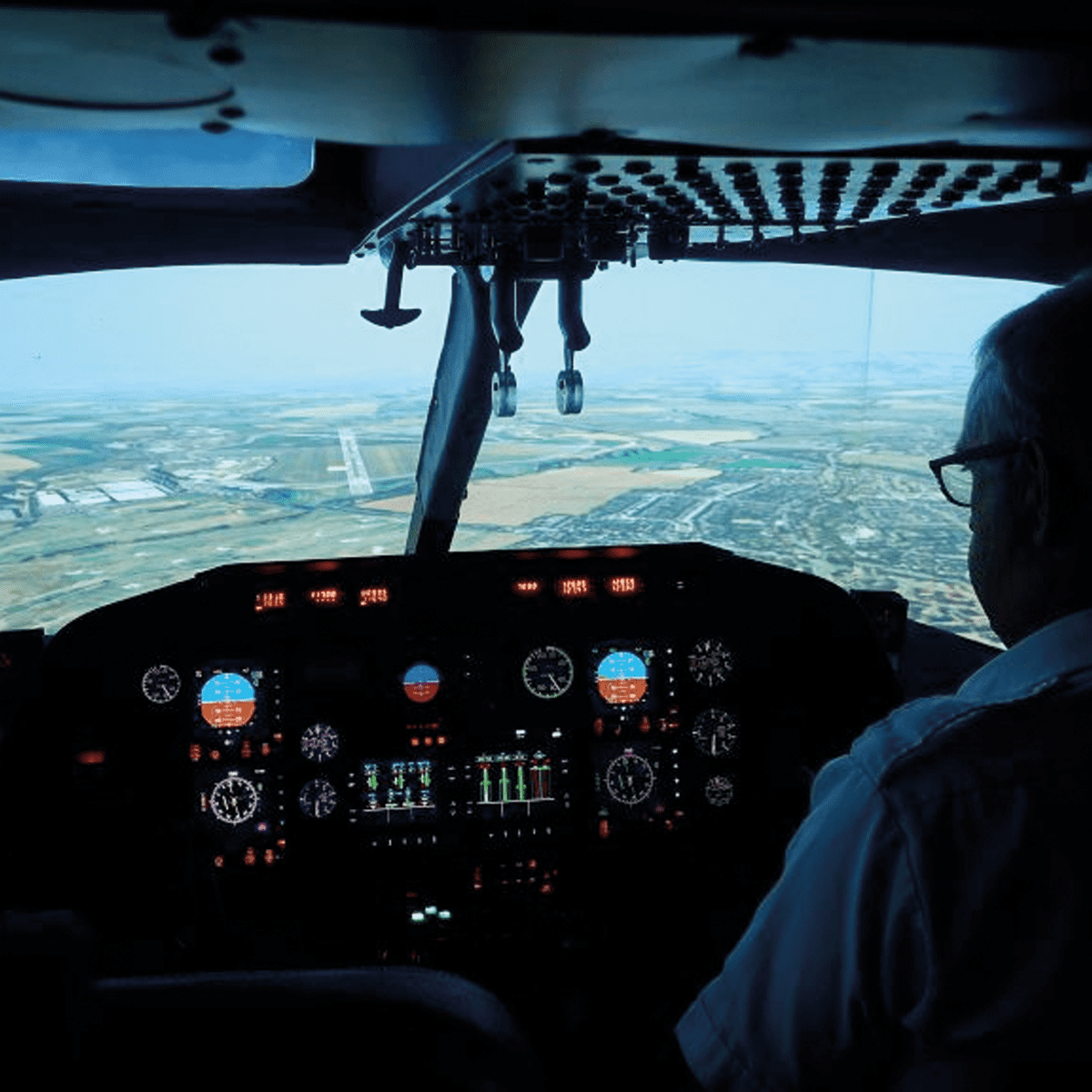 highly trained professionals - helicopter cockpit